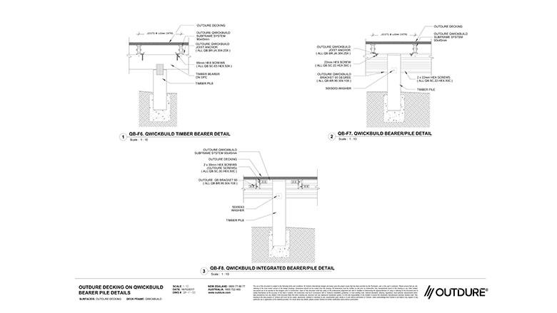 OUTDURE DECKING ON QWICKBUILD BEARER PILE DETAILS – 02