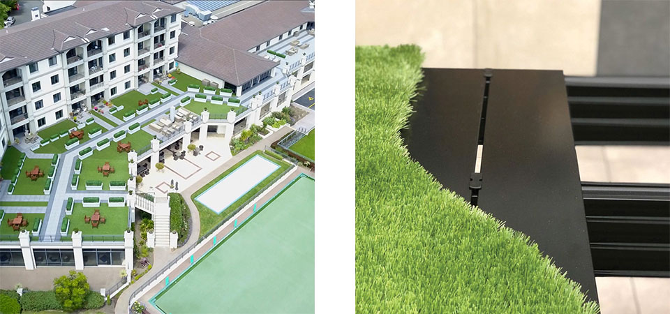 Turf on Qwickbuild at agedcare