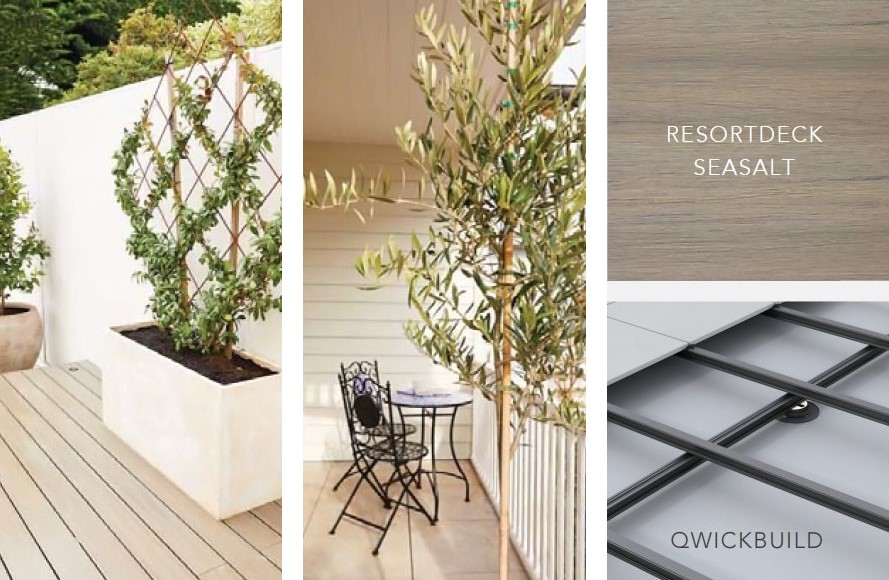 Outdoor living with coastal vibes decking